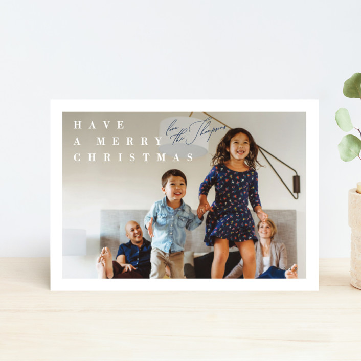 """""""Light Hearted"""" - Holiday Postcards in Navy by Carrie ONeal."""