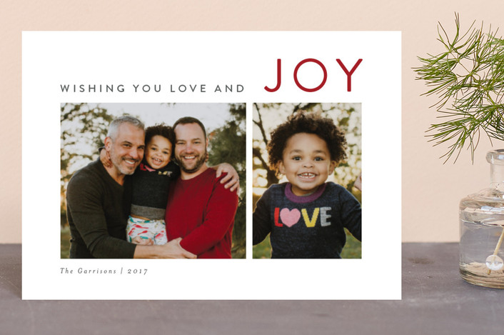 """The Sounding Joy"" - Holiday Postcards in Berry by Kelly Nasuta."