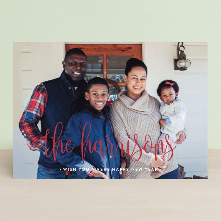 """""""Whimsy Family"""" - Holiday Postcards in Marshmallow by Iba Aziz."""