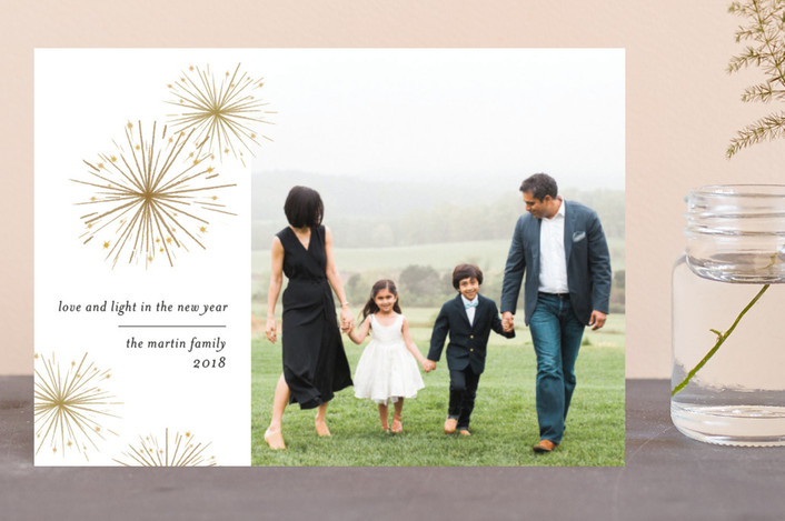 """""""Sparkler"""" - Holiday Postcards in Bronze by Laura Condouris."""