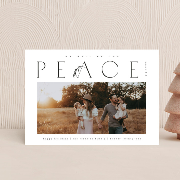 """""""He'll be our peace"""" - Holiday Postcards in Ink by Ana de Sousa."""