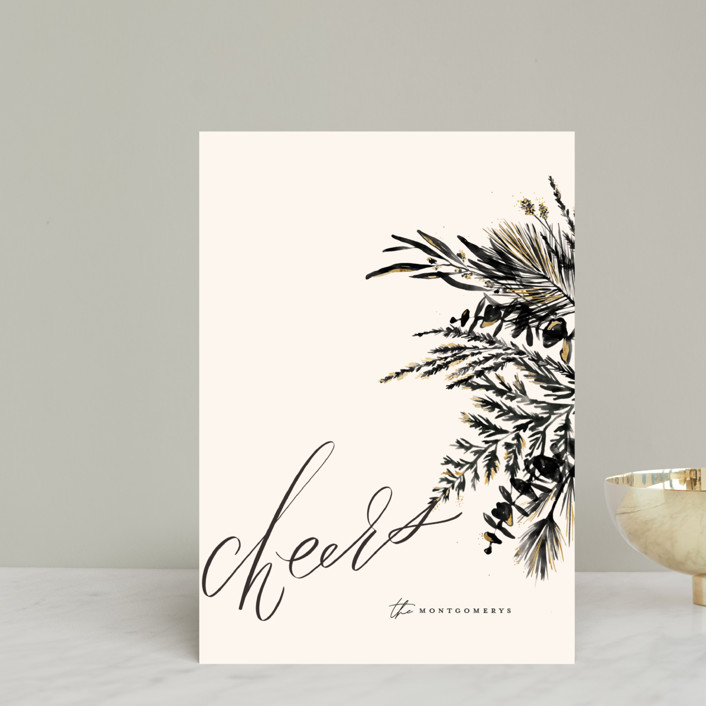 """""""Classic Bouquet"""" - Holiday Postcards in Almond by Julie Murray."""
