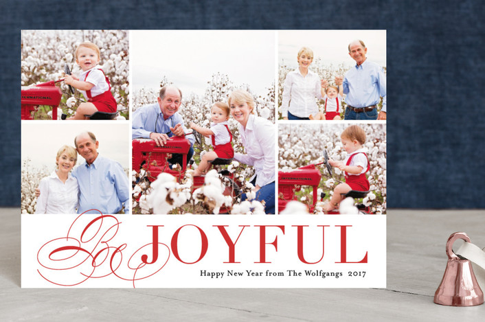 """Bursting with Joy"" - Holiday Postcards in Cherry by Kimberly FitzSimons."