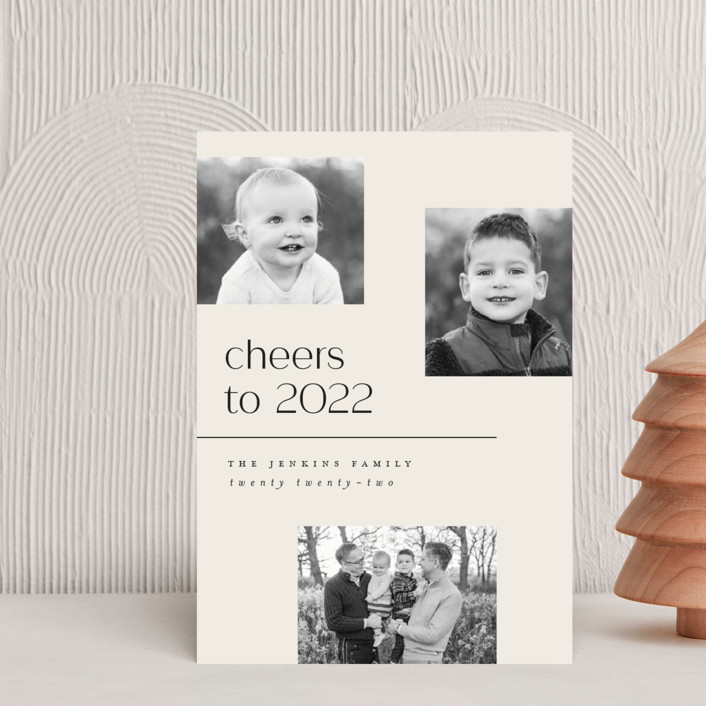 """Multi"" - Holiday Postcards in Eggnog by Pink House Press."