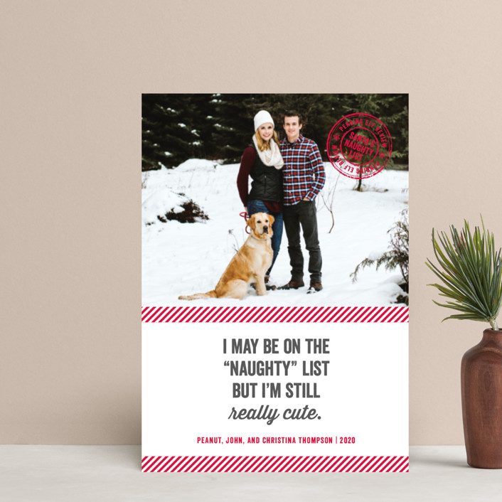 """""""Still Cute"""" - Holiday Postcards in Cherry by Paper Dahlia."""