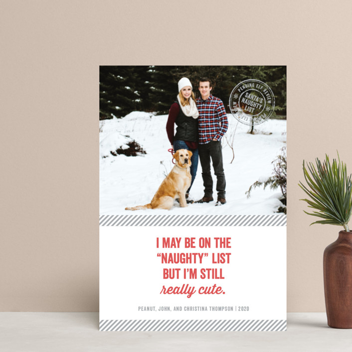 """Still Cute"" - Holiday Postcards in Ash by Paper Dahlia."