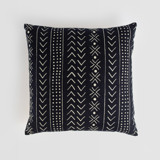 This is a black pillow cover by Erin Deegan called mud cloth organic.