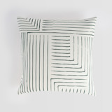 This is a black and white pillow cover by Seven Swans called Pattern Play.