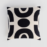 This is a black pillow cover by Iveta Angelova called Links.