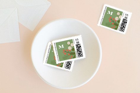 laurel of pines Holiday Stamps