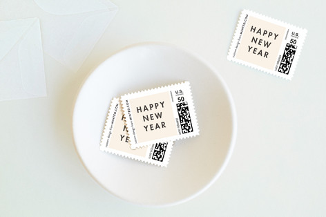 Modern Calligraphy Holiday Stamps