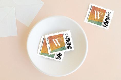 Splashed Holiday Stamps