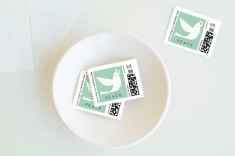 Winter Dove Holiday Stamps