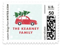 Car Ride Holiday Stamps