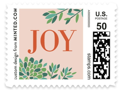 Succulent Christmas Holiday Stamps