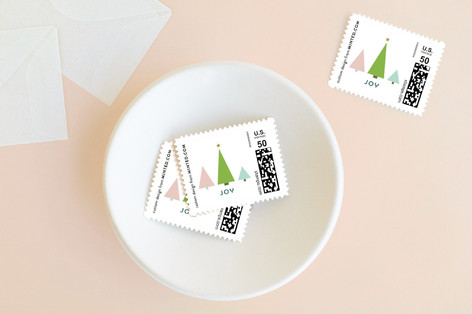 Joy Tree Forest Holiday Stamps