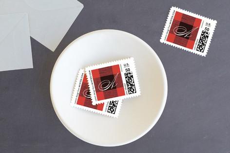 Christmas Check Holiday Stamps