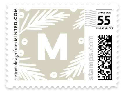 Mr and Mrs Pine Crest Holiday Stamps