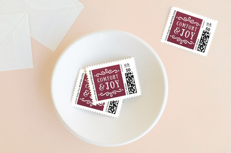 Comfort + Joy Holiday Stamps