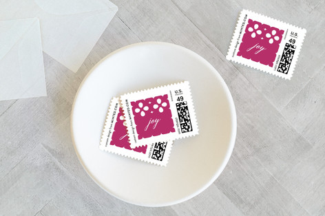 Married Christmas Couple Holiday Stamps