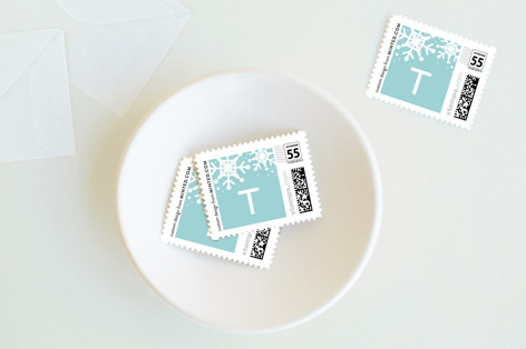 Subtle Snow Holiday Stamps