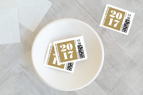 glam new year Holiday Stamps