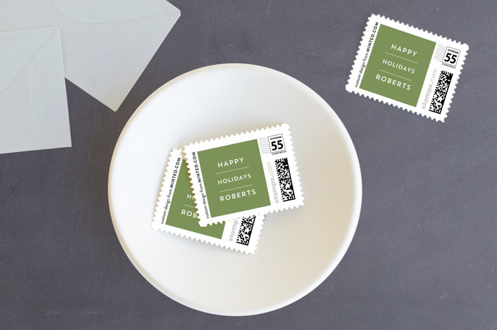 """""""Effortless"""" - Holiday Stamps in Snow by Alaina Cherup."""