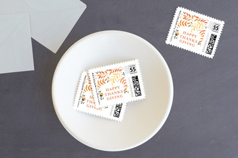 Autumn Leaves Holiday Stamps