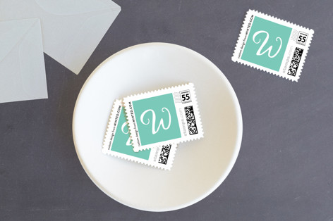 Lettered Peace Holiday Stamps