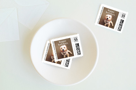 Happy Holidays Holiday Stamps