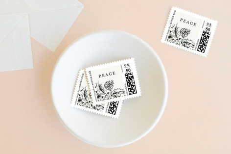 Peace and Family Holiday Stamps