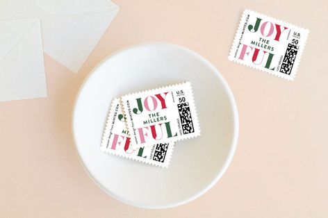 Jolly Blocks Holiday Stamps