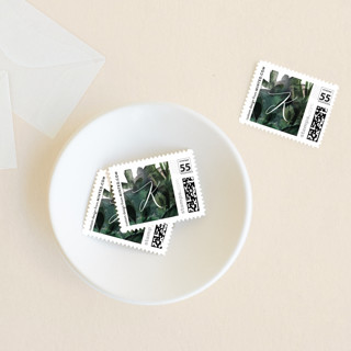 Greenery Wreath Holiday Stamps