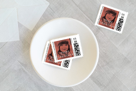 Red Overlay Holiday Stamps