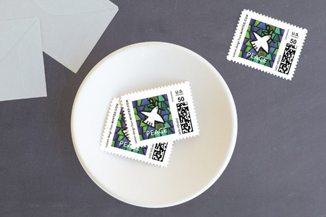 Stained Glass Wishes Holiday Stamps