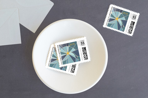 Stained Glass Star Holiday Stamps
