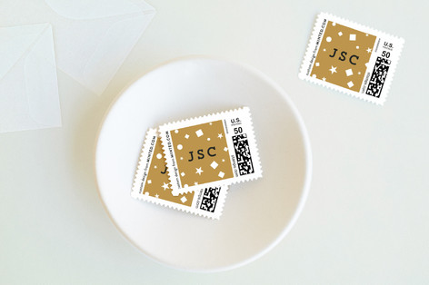 Confetti Holiday Stamps