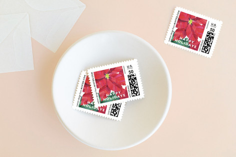 Holiday Flowers Holiday Stamps