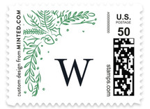 Pressed Greens Holiday Stamps