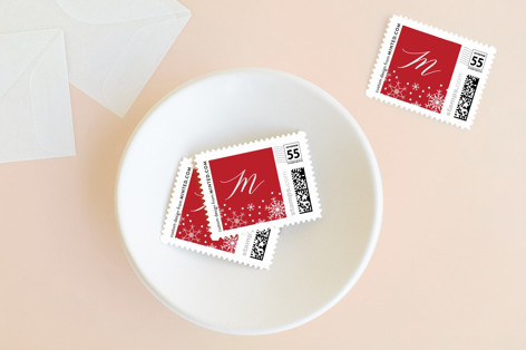 Modern Name Holiday Stamps