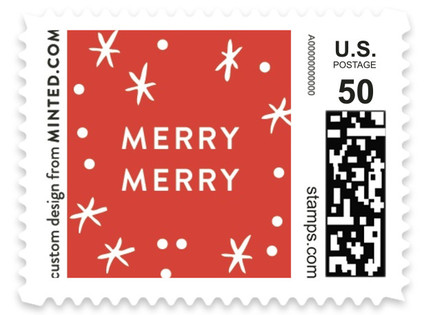 Best Year Ever Script Holiday Stamps