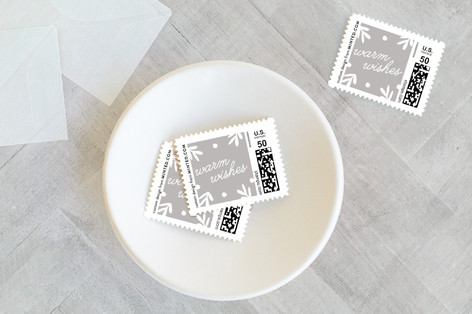Punched Pine Holiday Stamps
