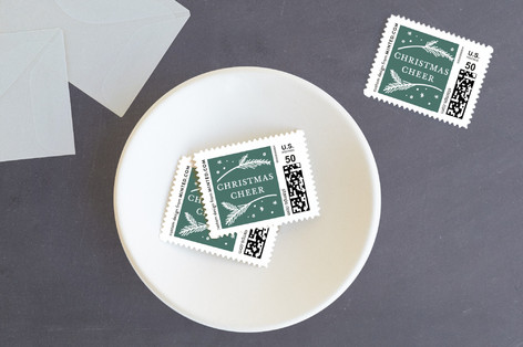 spreading christmas cheer Holiday Stamps