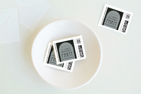 Gravestone Holiday Stamps