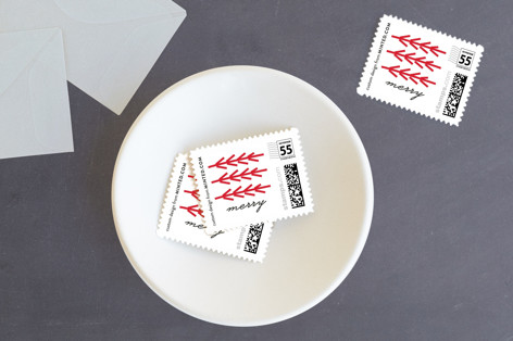 Merry Collage Holiday Stamps