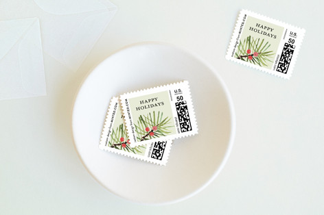 Tropical Pine Holiday Stamps