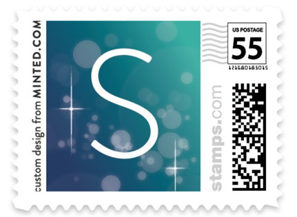 Bright Bokeh Holiday Stamps