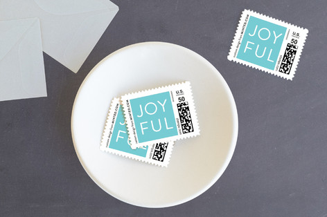 Colorful joy Holiday Stamps