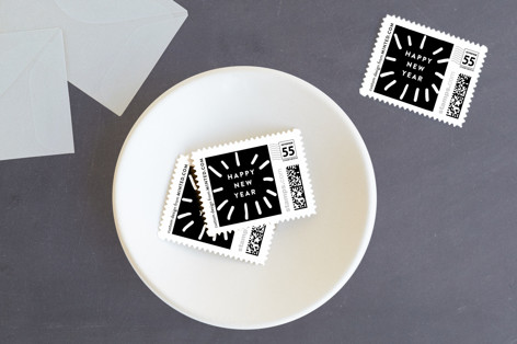 New Year Spark Holiday Stamps