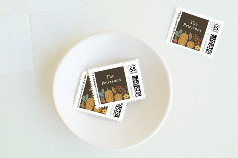 Grateful Autumn Holiday Stamps